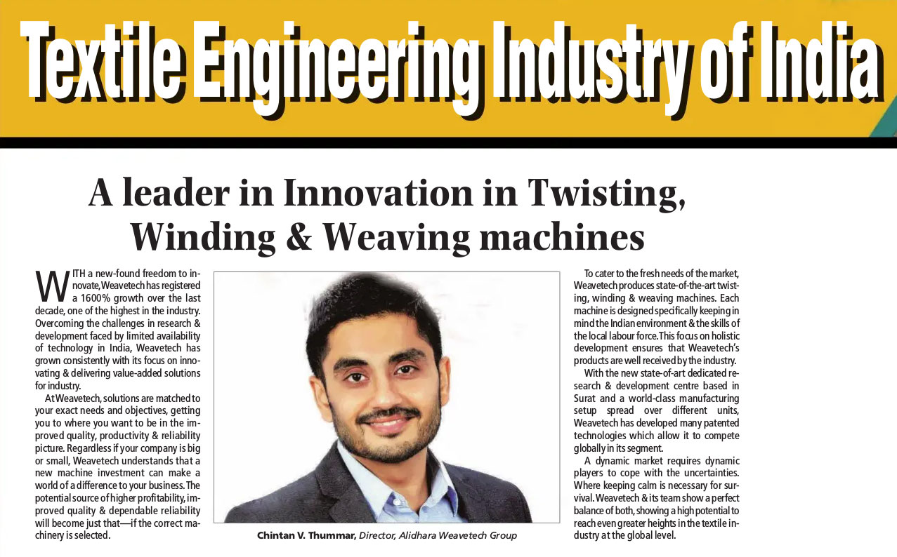 A leader in innovation in twisting winding & weaving machines